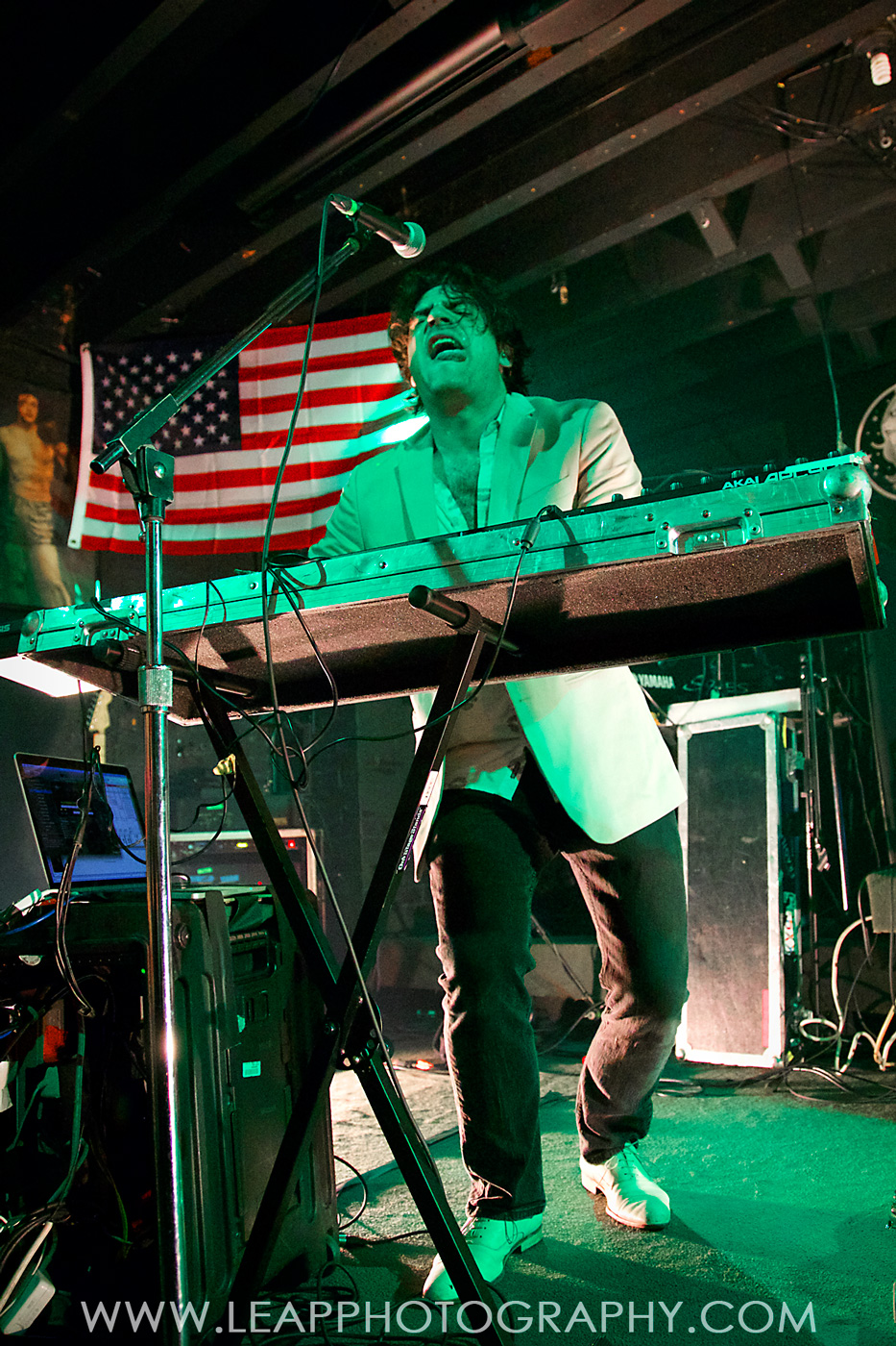 French Horn Rebellion on stage at Treefort