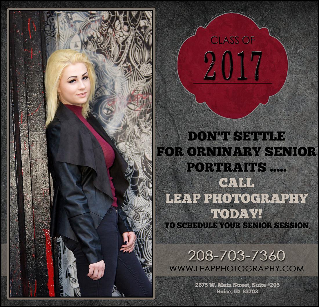 Boise High School Senior Photographer