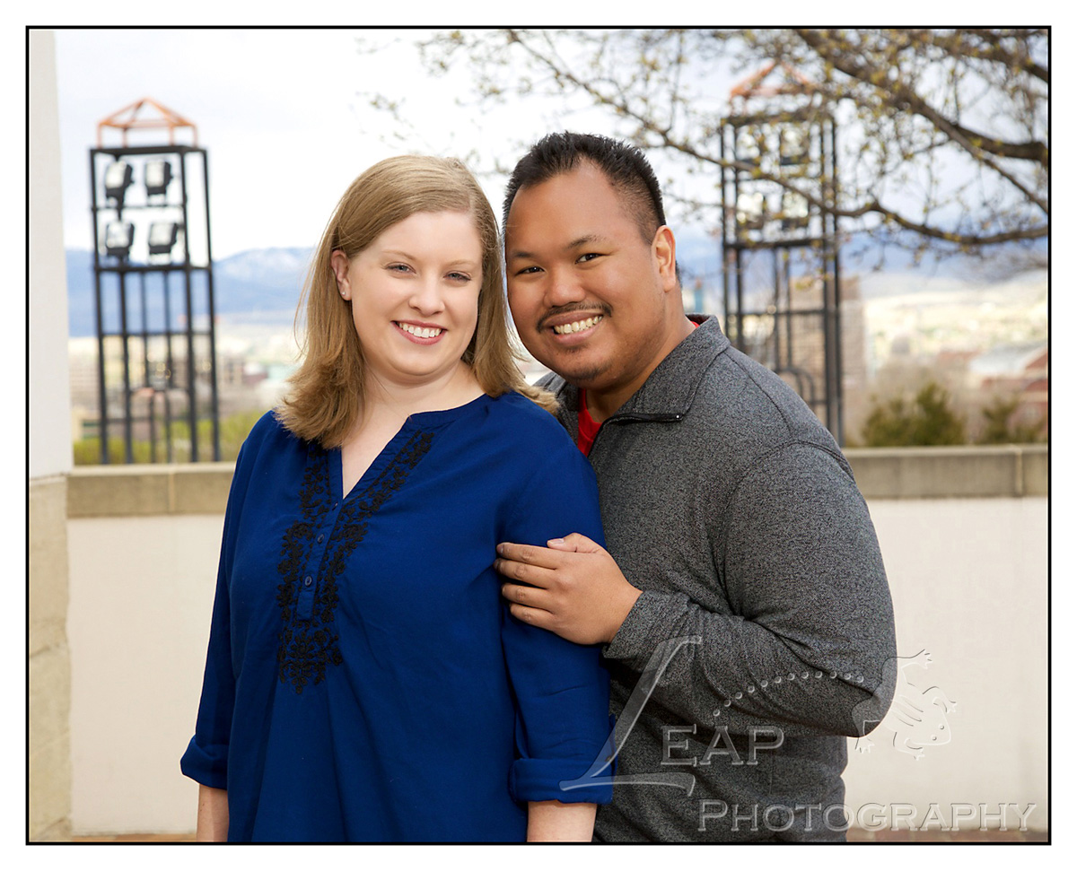 Engagement Photo of Boise Idaho couple