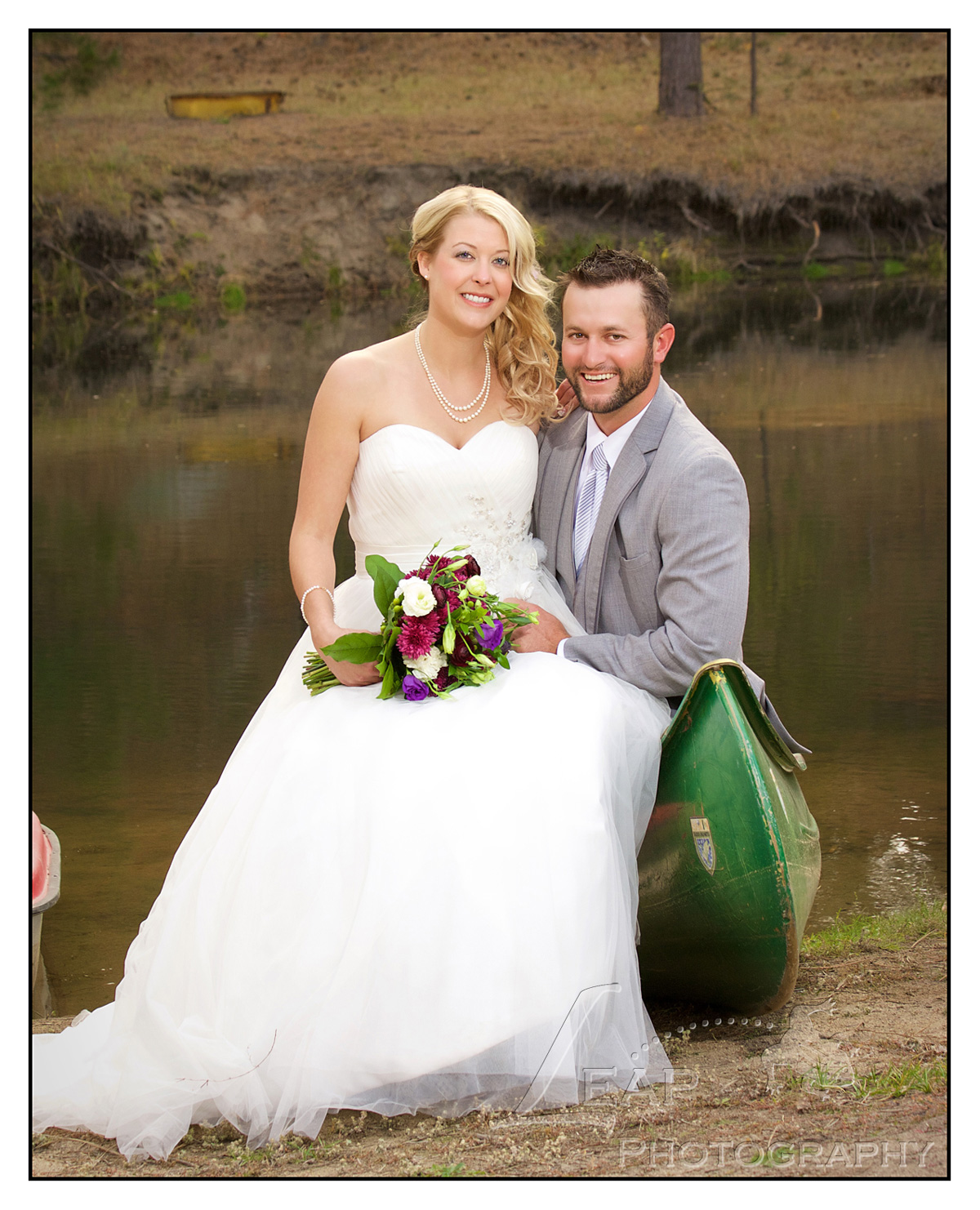 wedding portrait of Boise, Idaho bride and groom