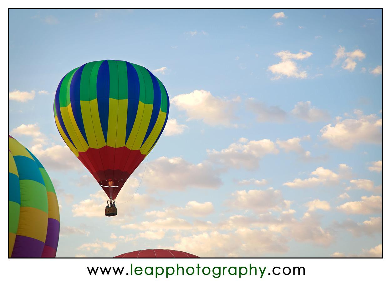 hot air balloon in Boise sky