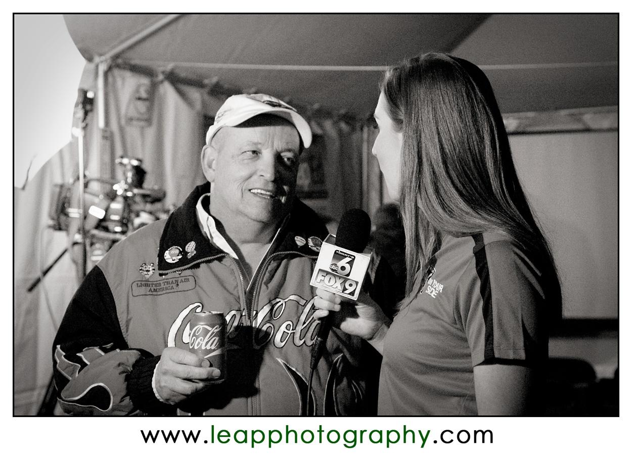 TV crew interviews Scott Spencer of Boise