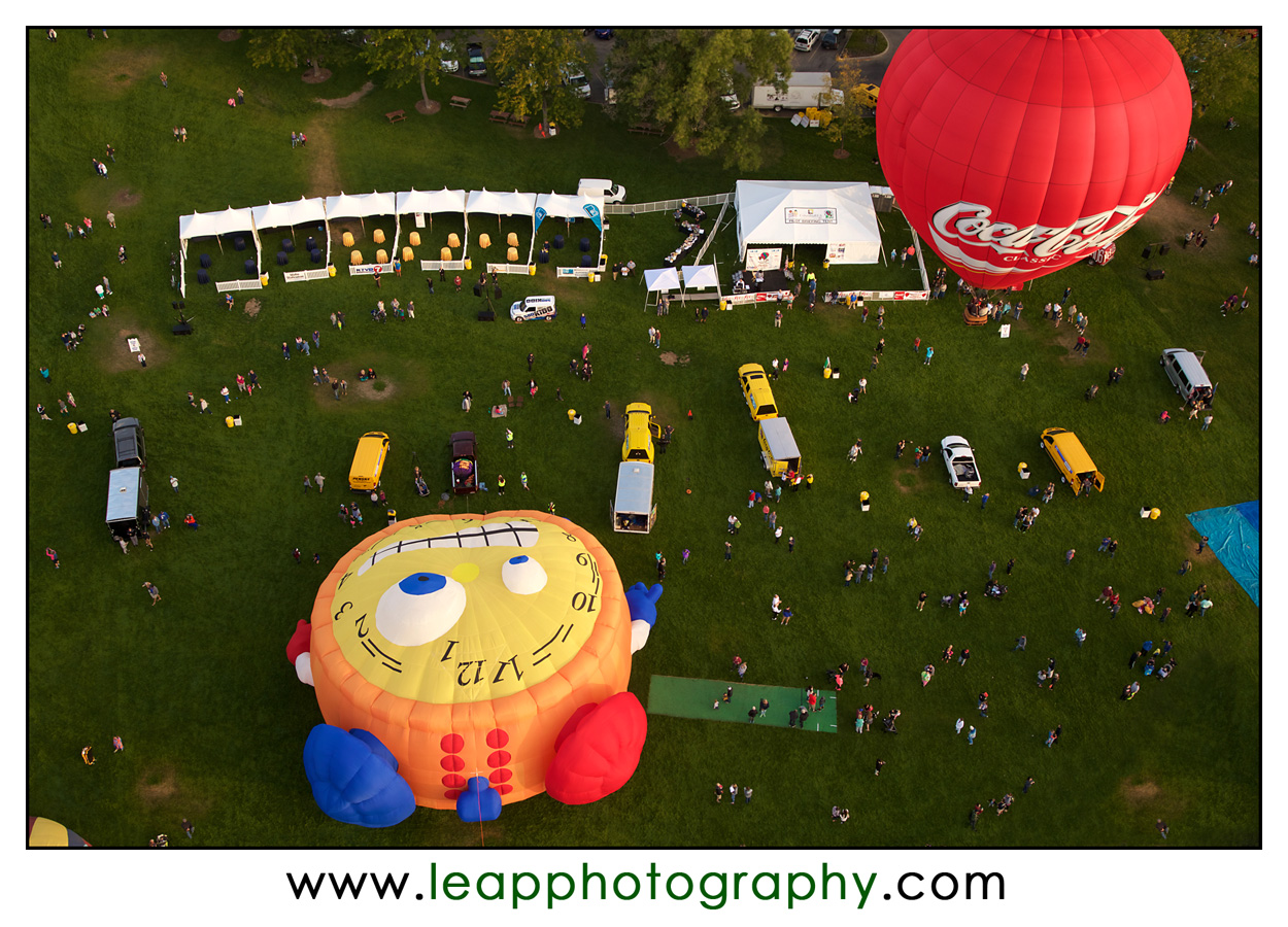 view from above the Boise Balloon Classic