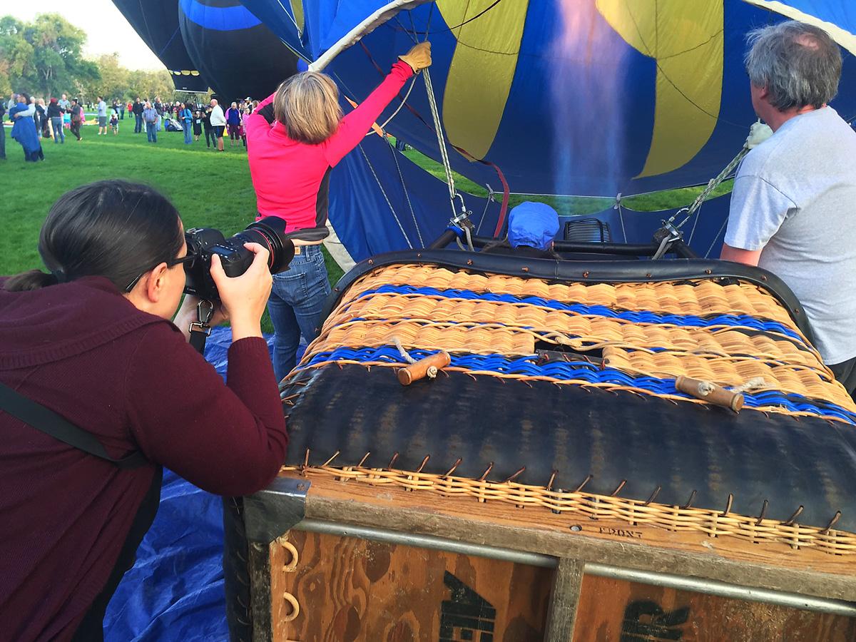 photographer taking photos at Balloon Festival