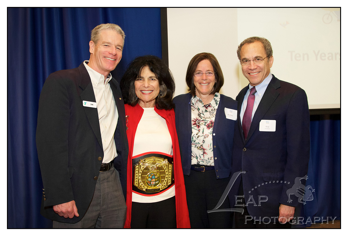 Barbara Morgan, Skip Oppenheimer and Bev Harad