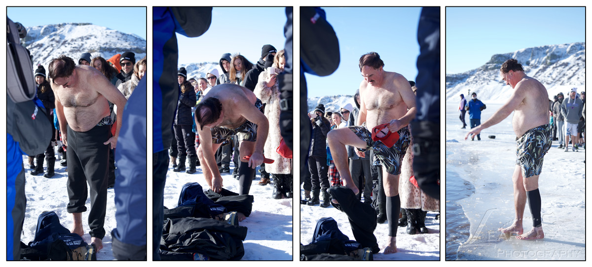 Larry Gebert at the 2017 Polar Bear Plunge