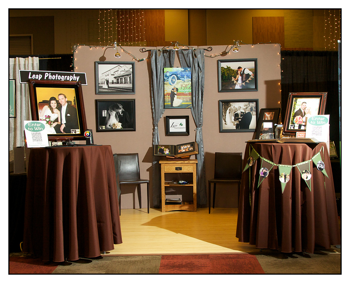 wedding photographers bridal show booth