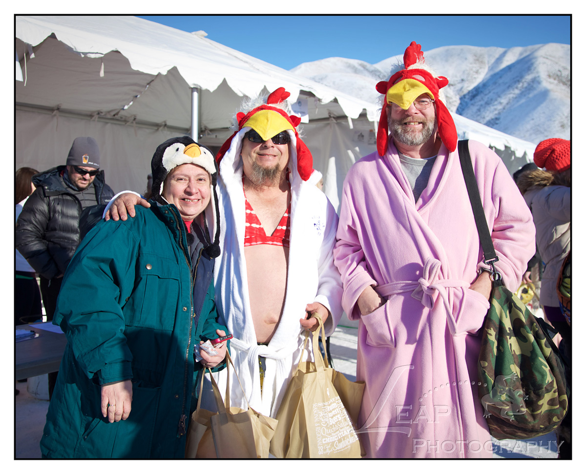 Chicken Costumes at the Polar Bear Plunge