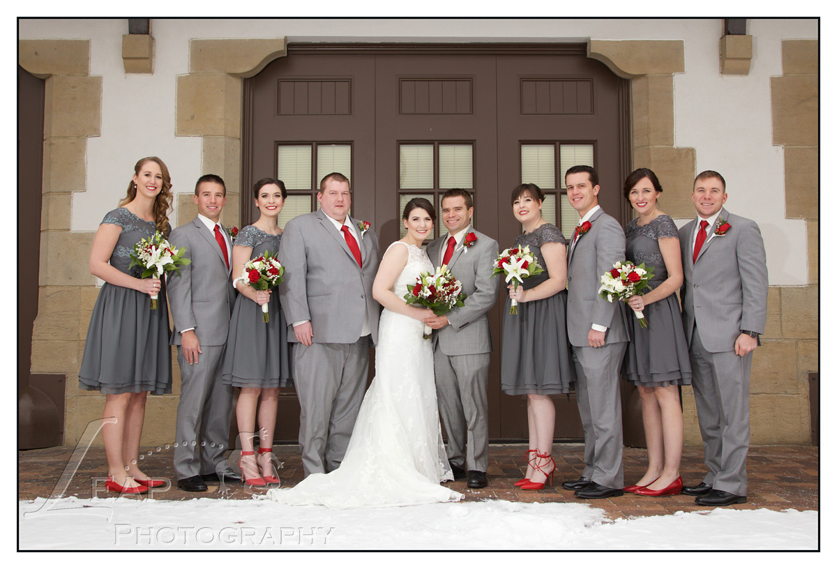 bridal party at Boise Train Depot Wedding