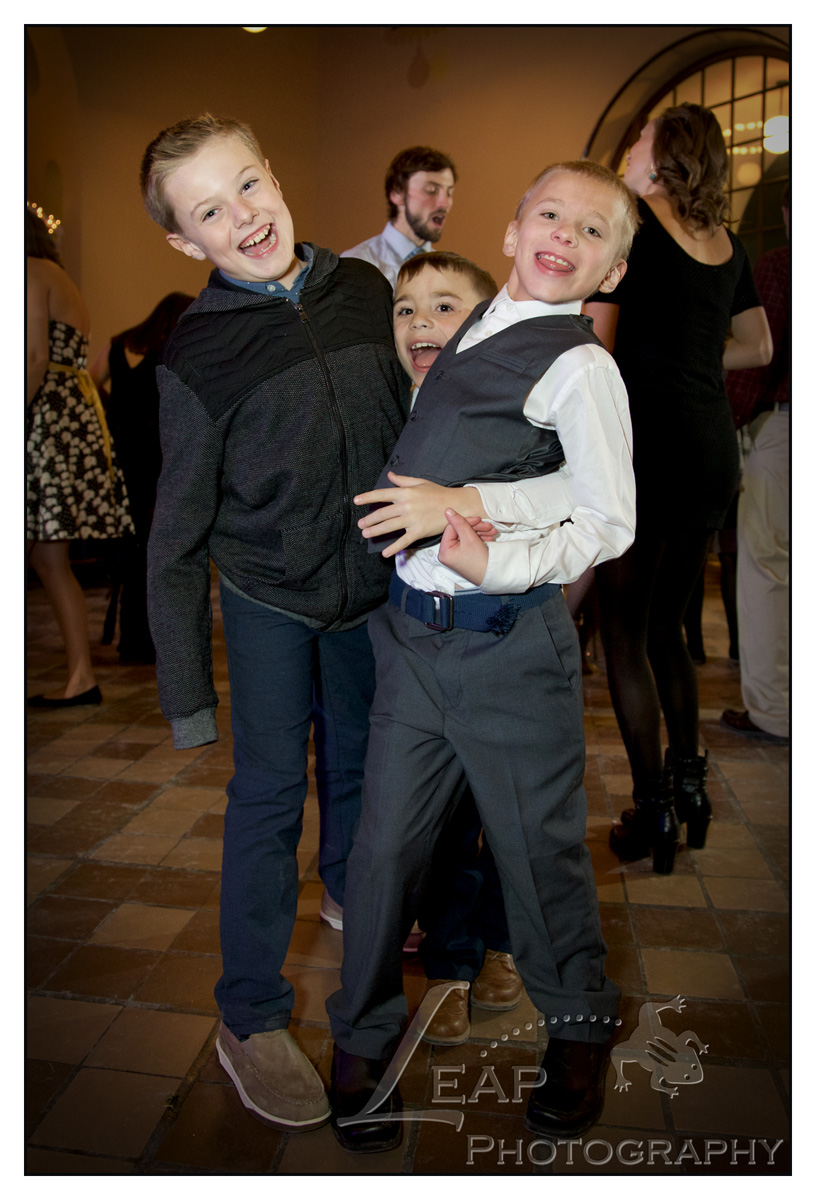 children at wedding reception