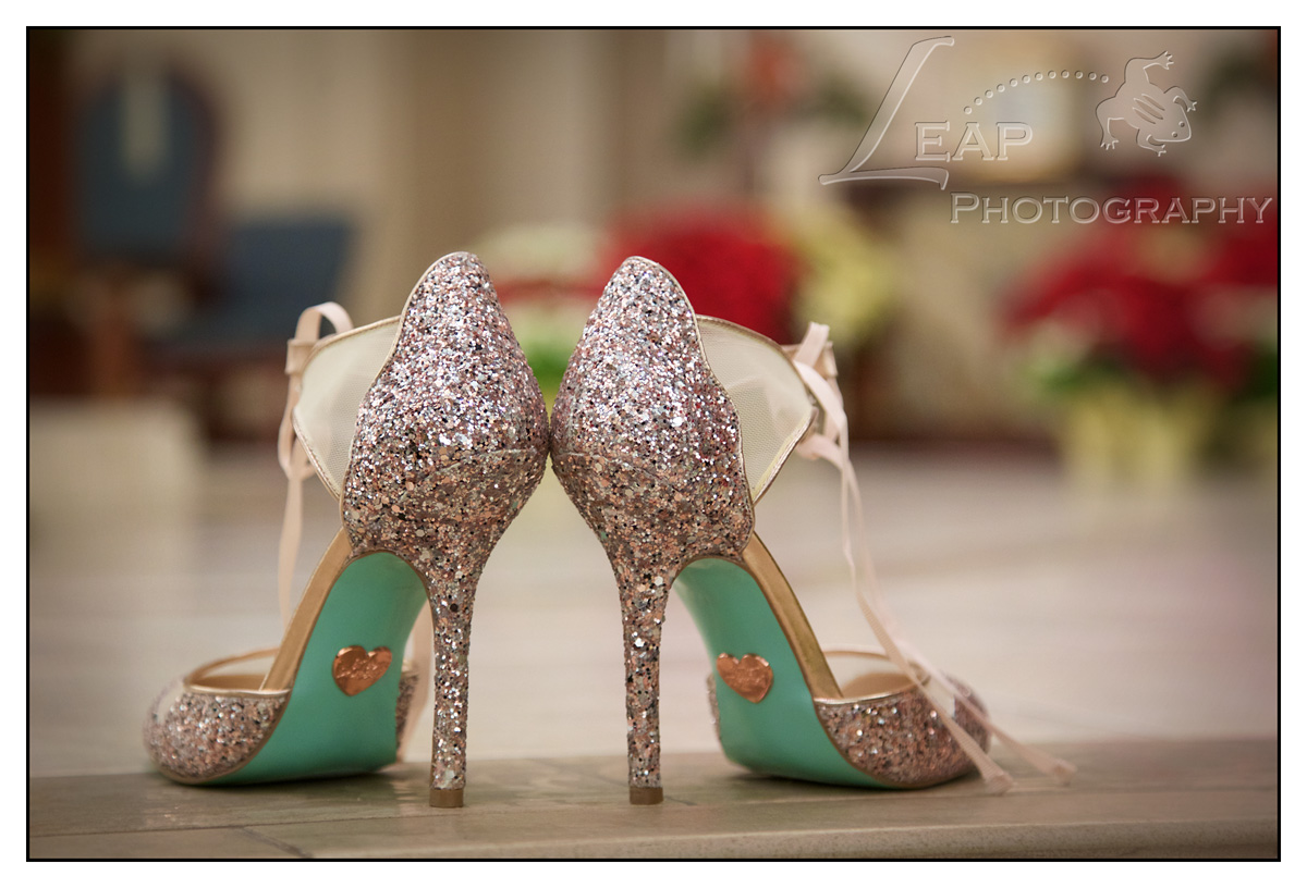 sparkle wedding stilettos