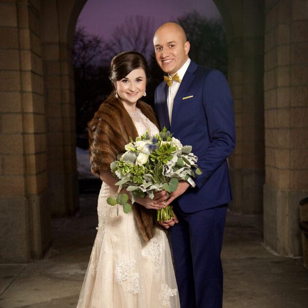 winter wedding at st marks church boise