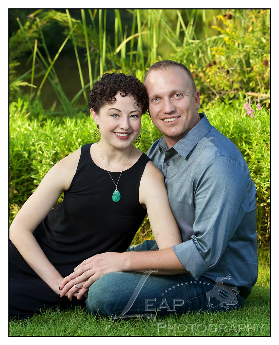 portrait of newly engaged couple