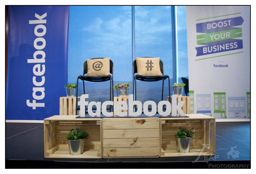 Facbook Boost Your Business Stage Decor