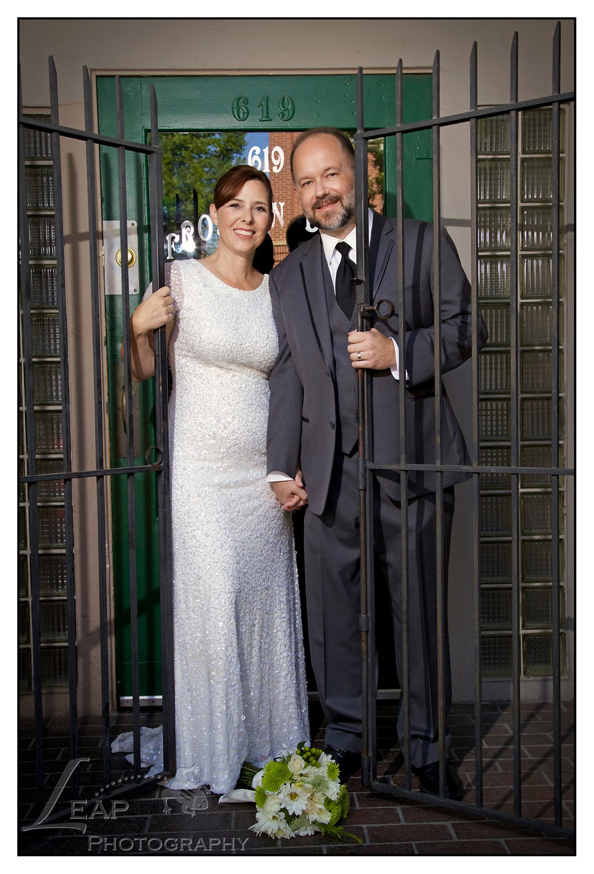 Wedding Picture taken in dowtown Boise