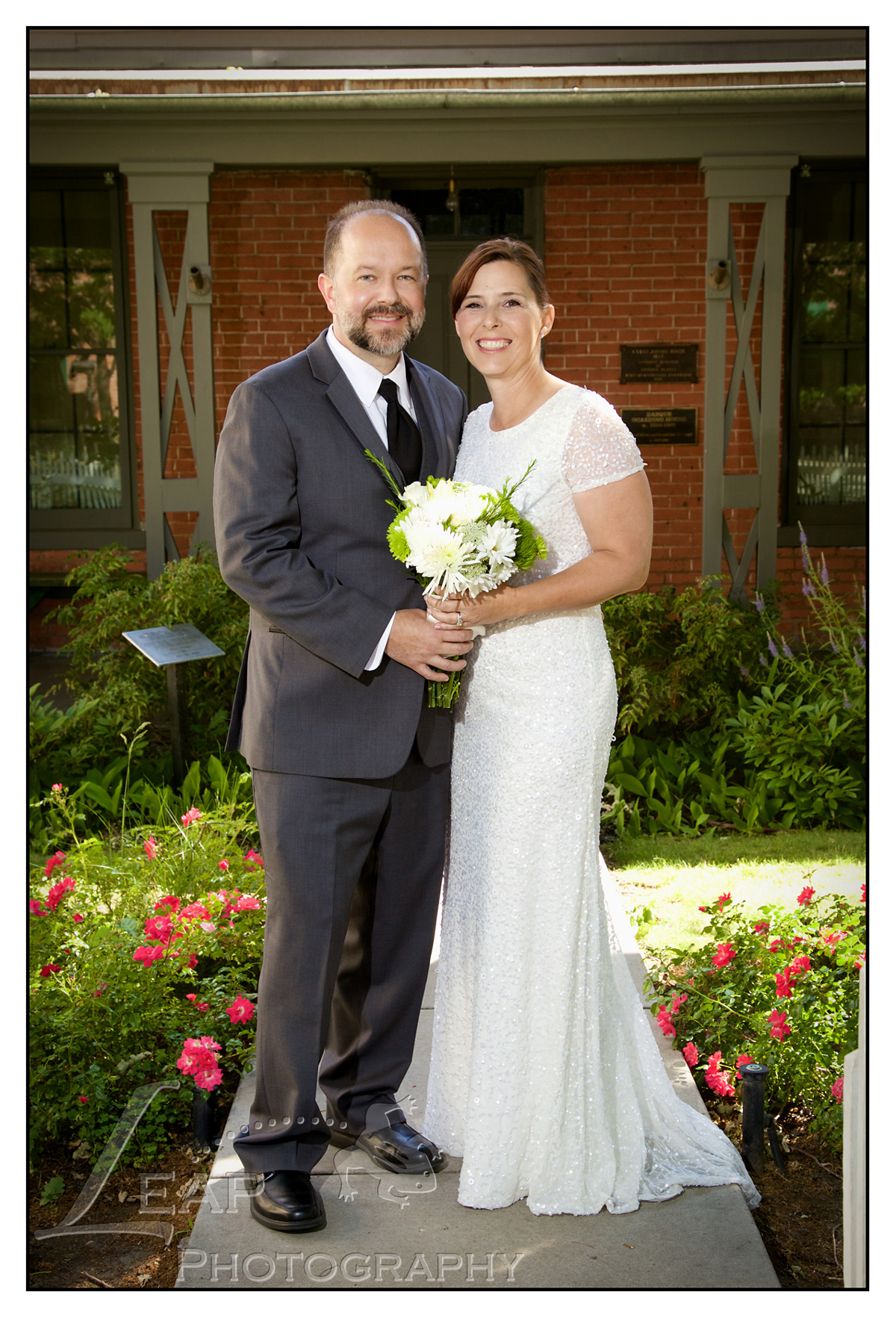 wedding picture taken in downtown Boise