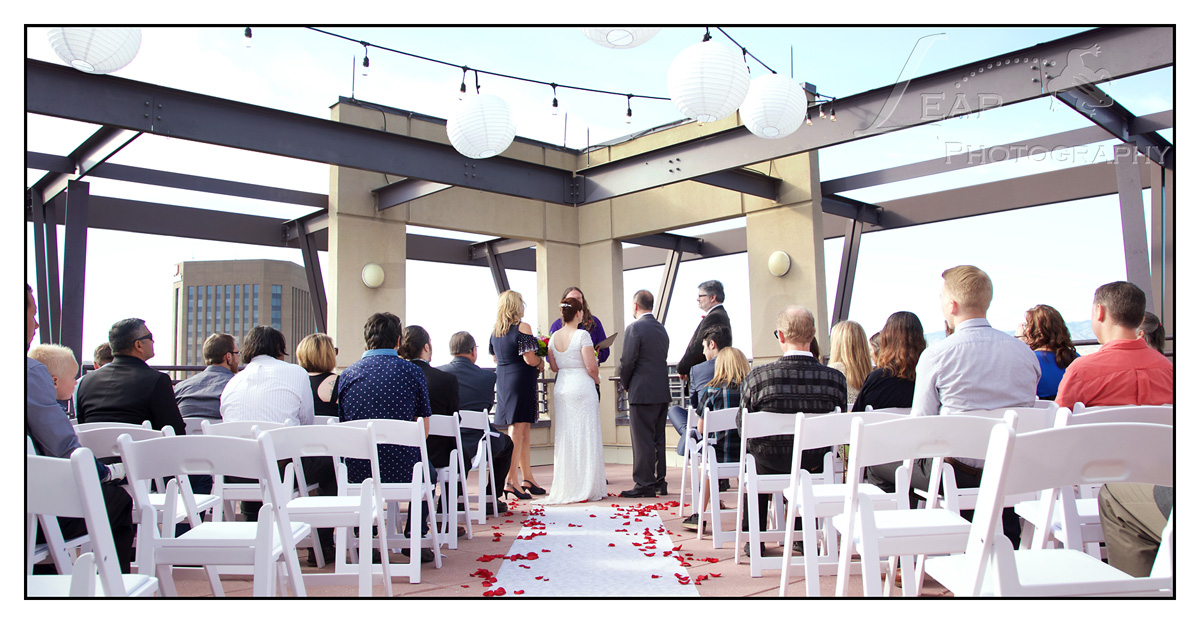 CW Moore Penthouse Wedding Ceremony