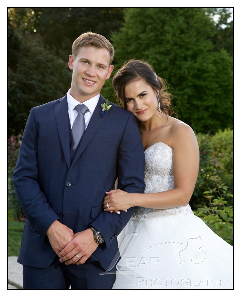 wedding photo of bride and groom