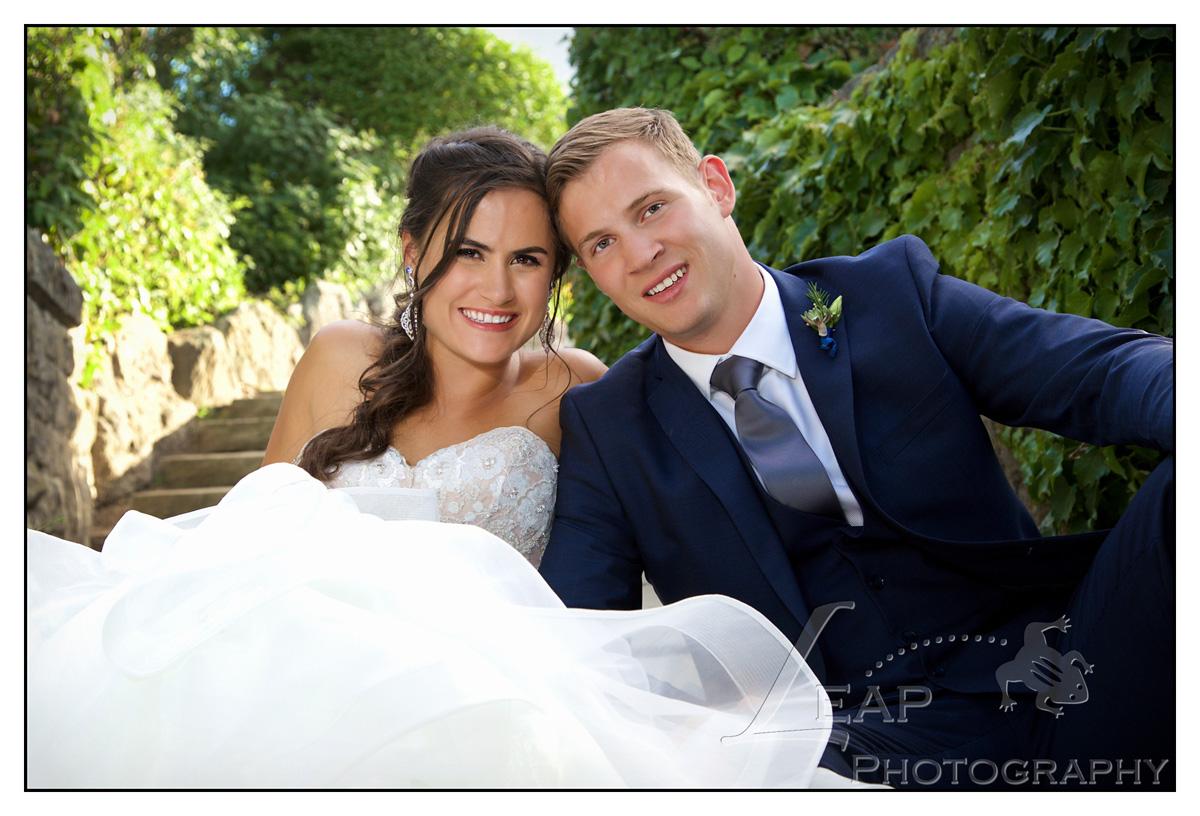 marriage photo taken in platt garden