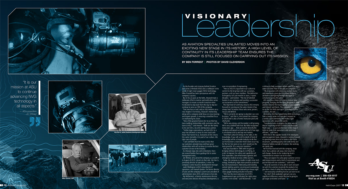 tearsheet of magazine layout
