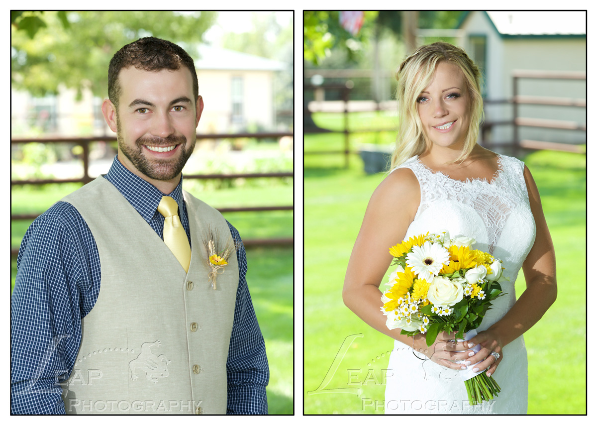 professional portraits of bride and groom