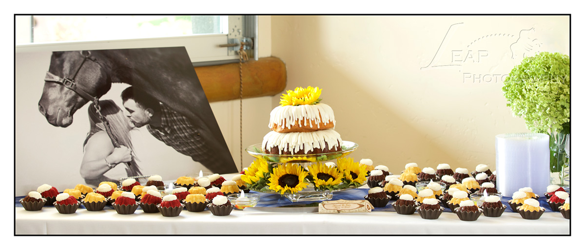 cake table at wedding