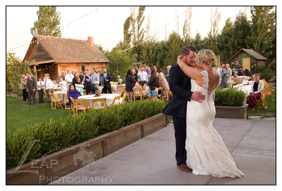First Dance at Idaho Wedding