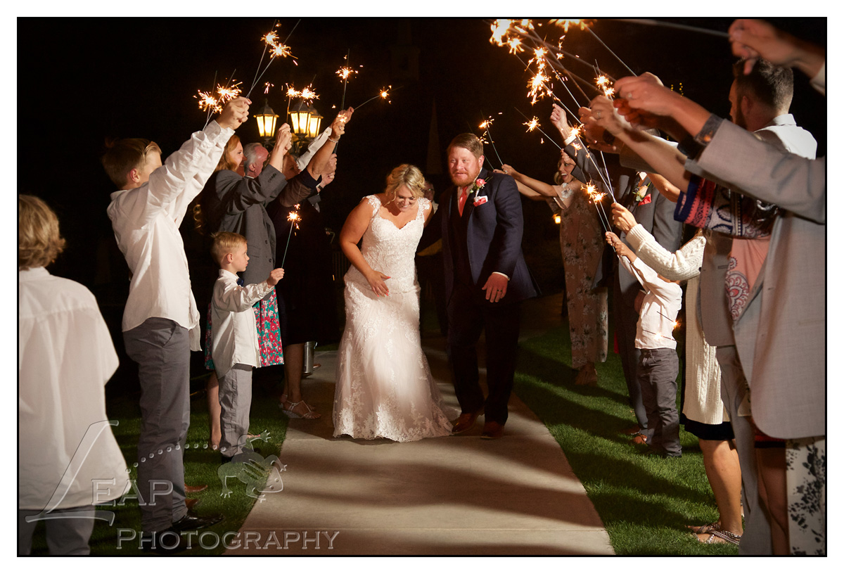 sparkler send off at idaho wedding