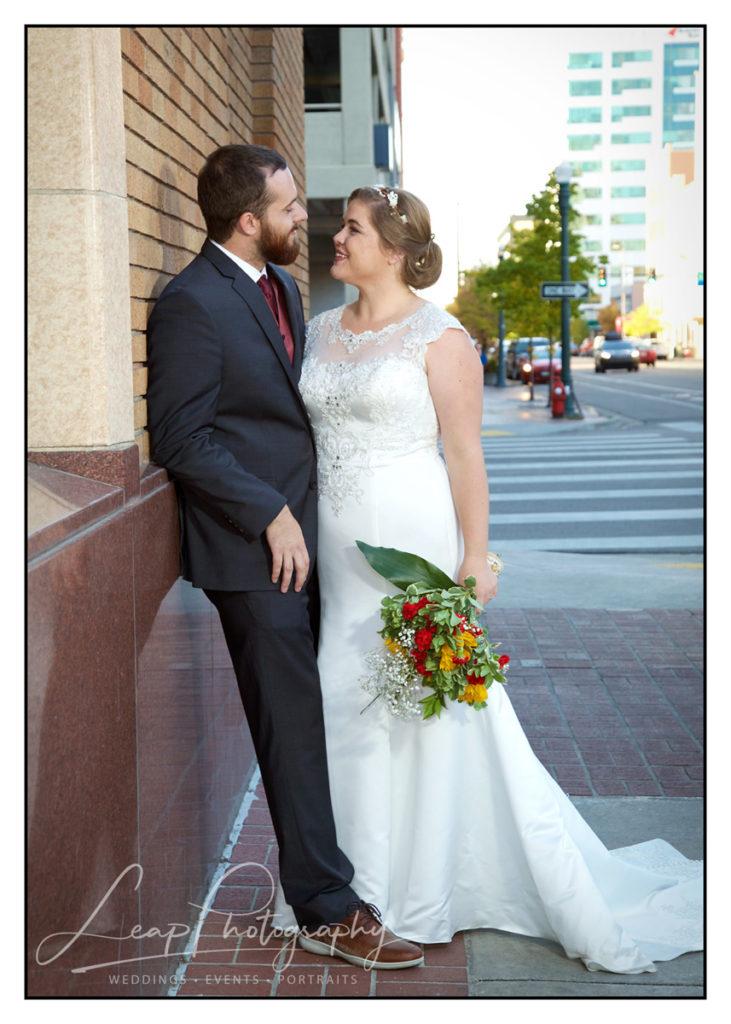 marriage portrait of Boise couple