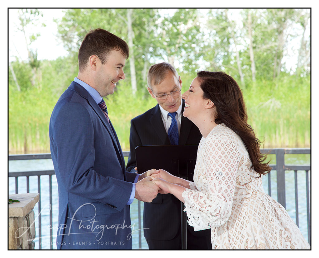 elopement ceremony photo of couple