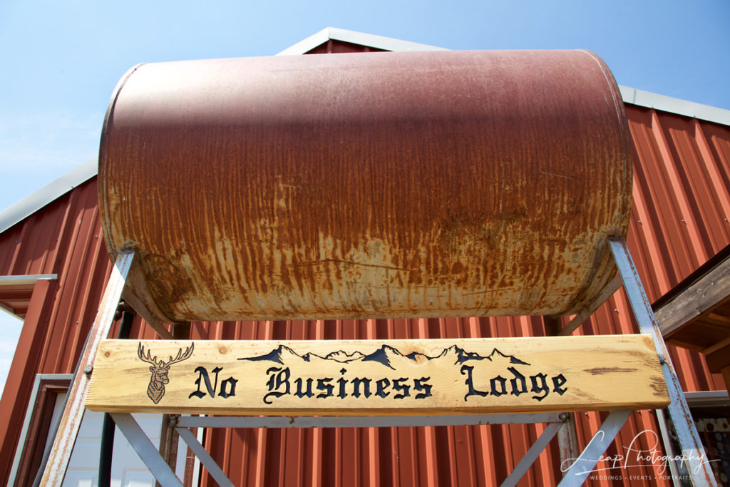 No Business Lodge sign