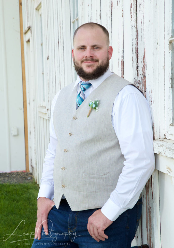 wedding photo of Boise groom