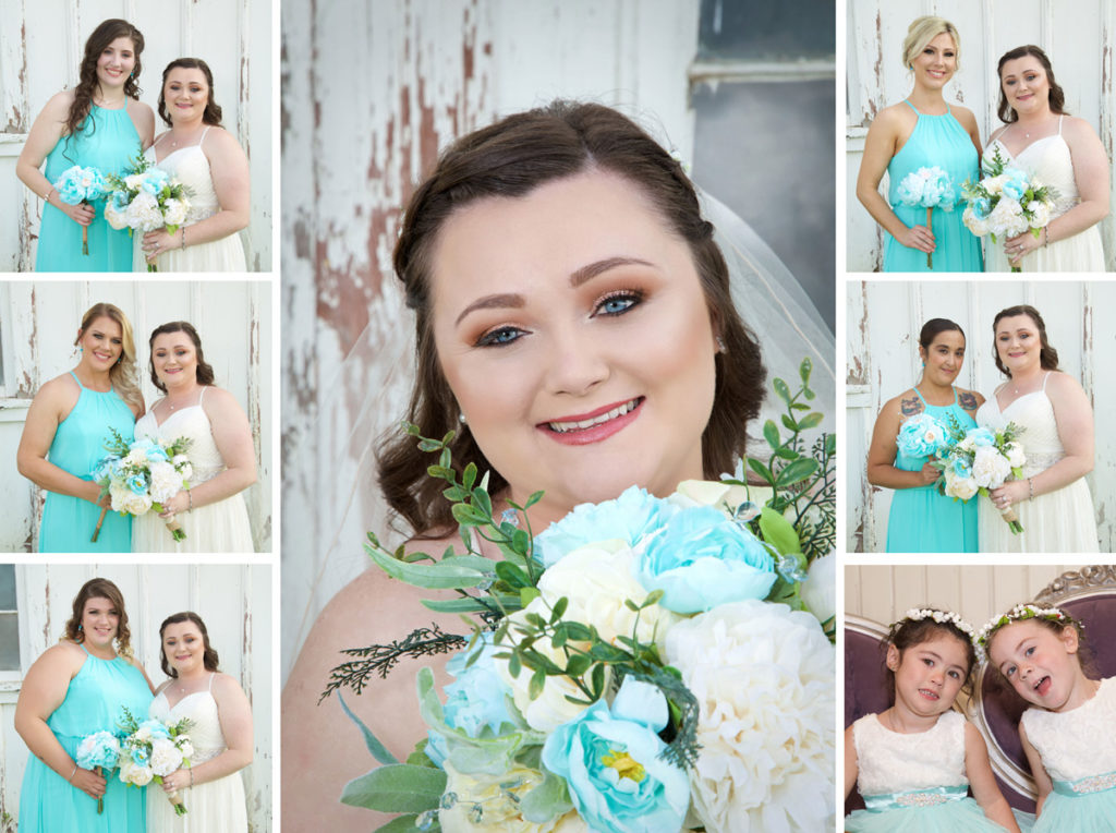 wedding portrait photography of bride and bridesmaids