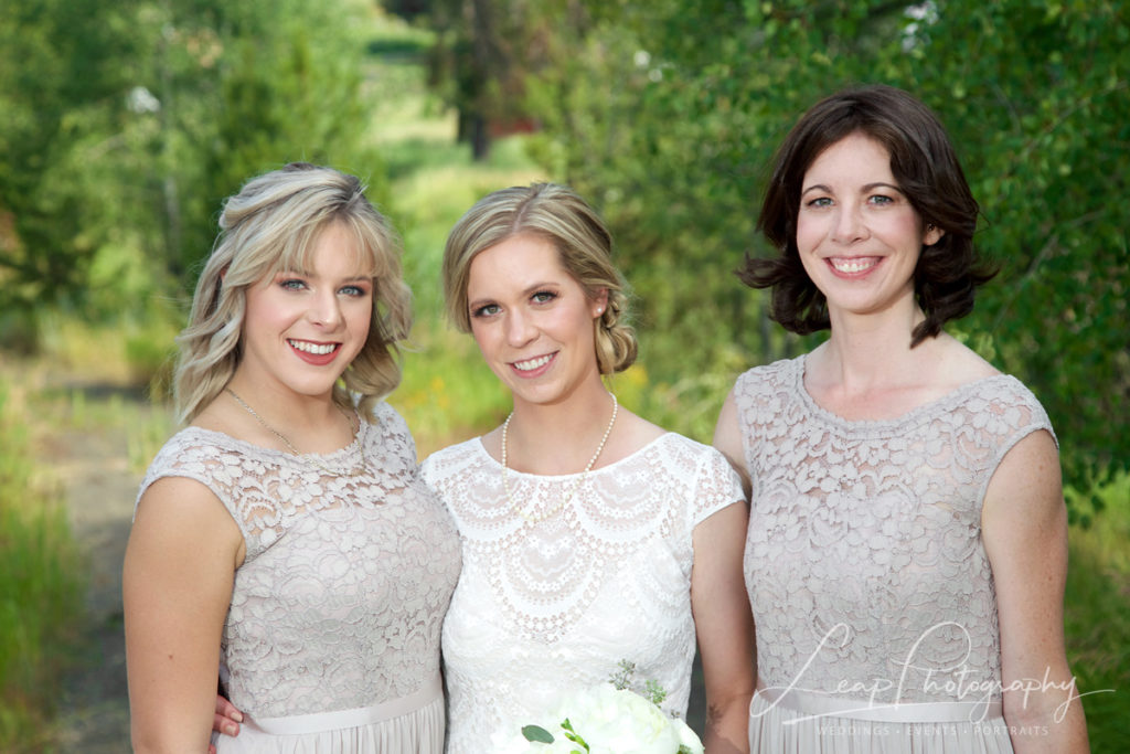 wedding photo of a bride and her bridesmaids