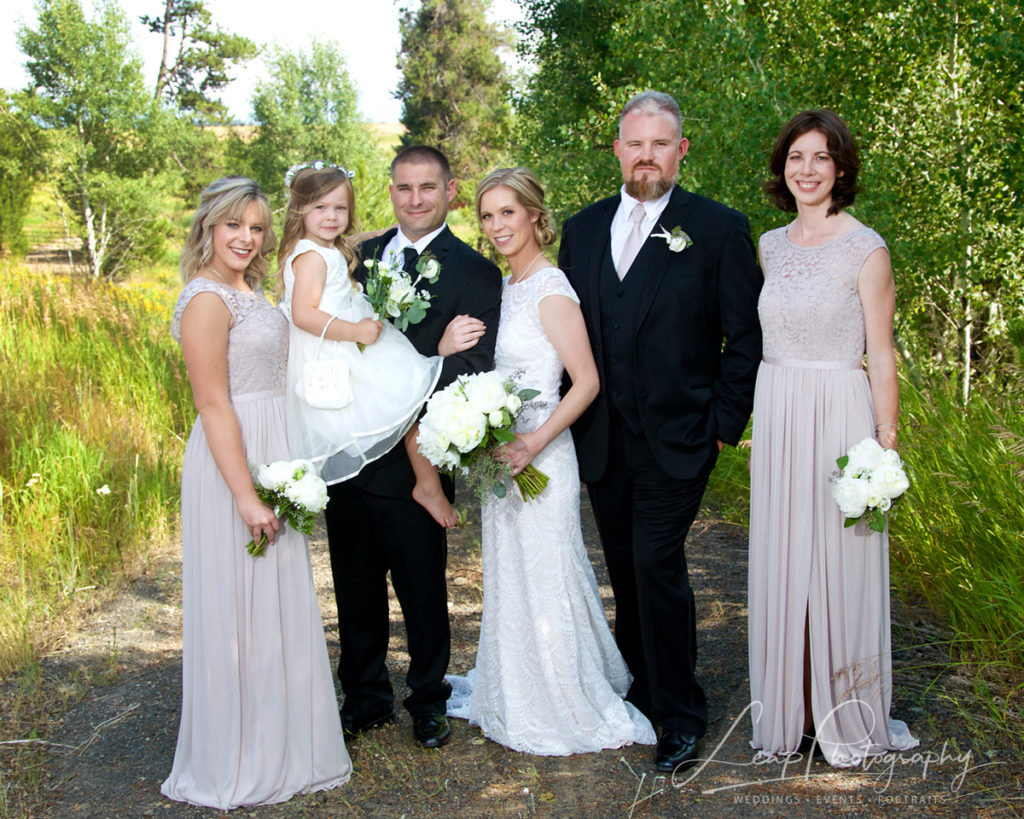 bridal party at a McCall, Idaho wedding