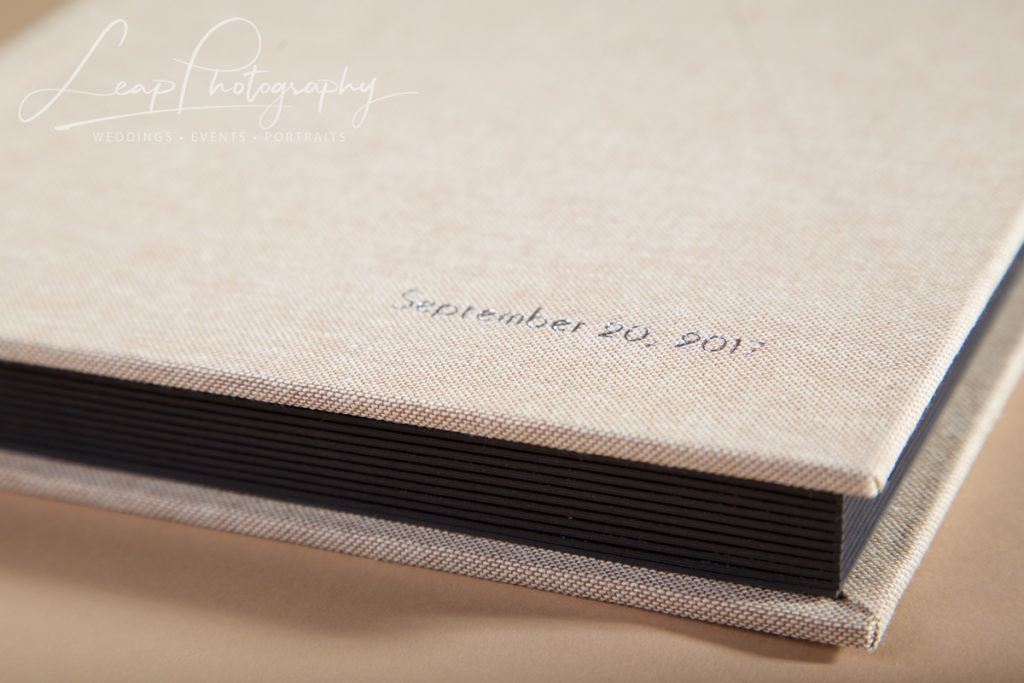 photo album with linen cover
