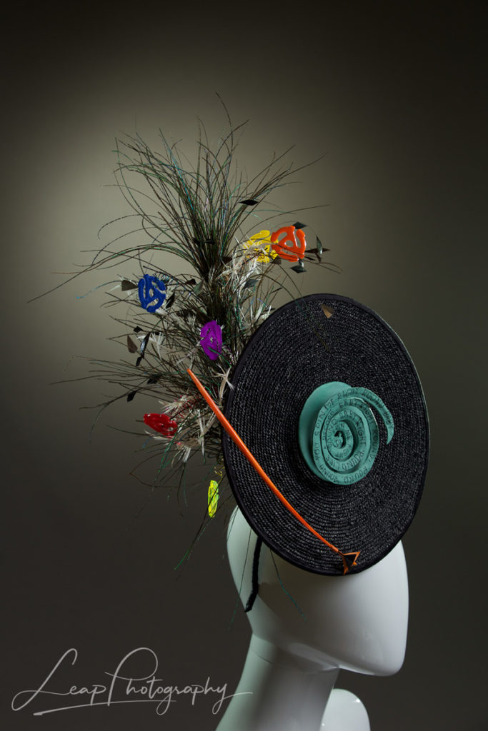 side view of custom made hat