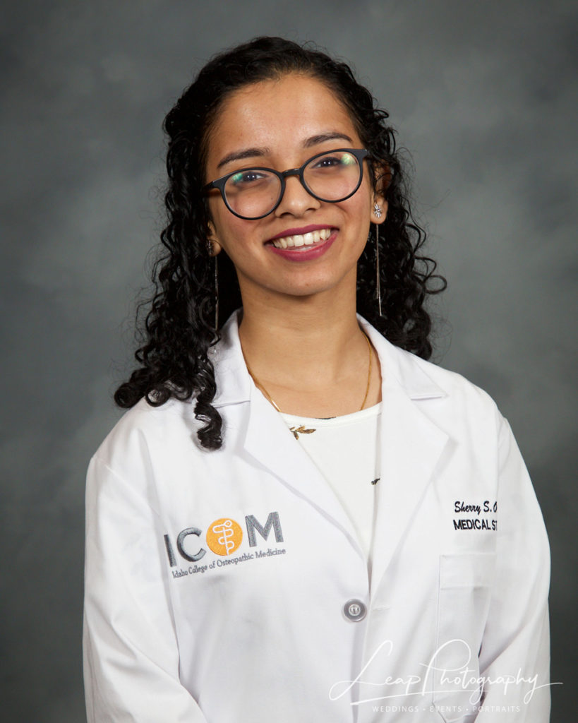 medical student in white coat