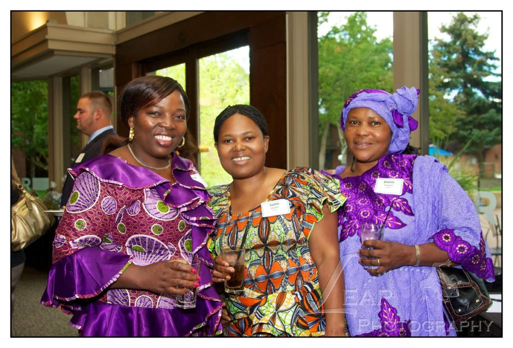 event photo of 3 African women