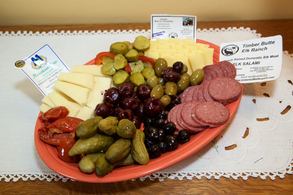 idaho meat and cheese platter