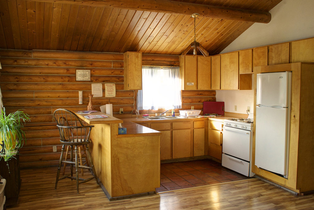 kitchen in Idaho cabin