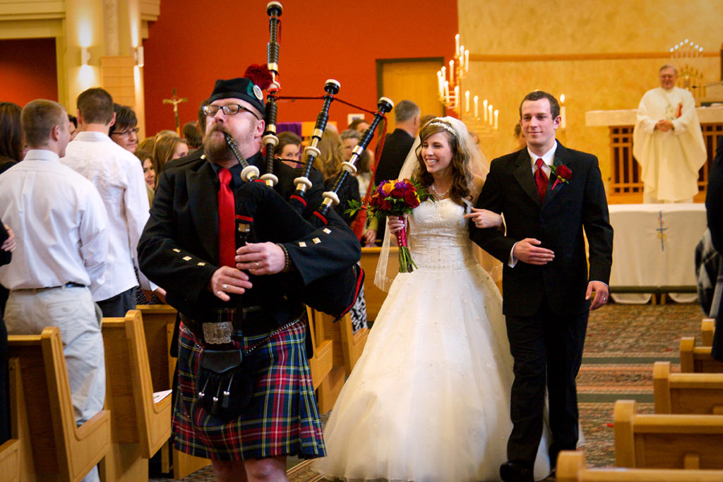 bag pipes at boise wedding