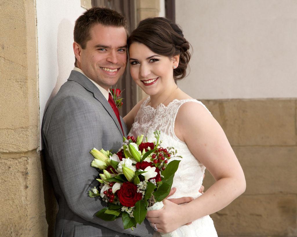 wedding photo at Boise Train Depot