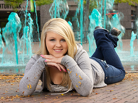 senior pictures in downtown boise at centre on the grove