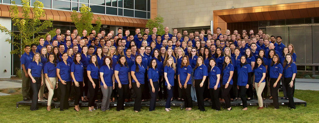 class group photo of medical students in Boise