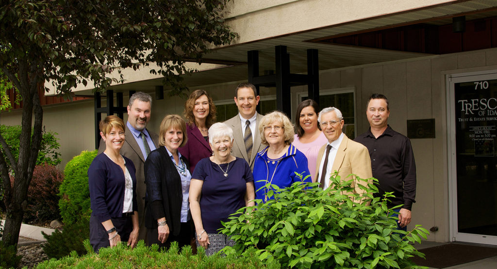 financial planning firm's group photo taken on location