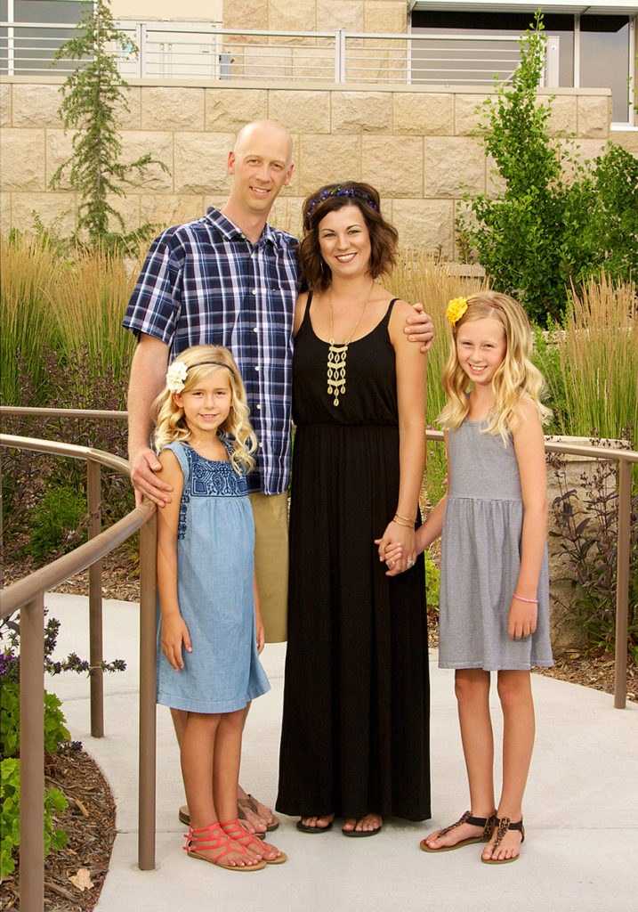 picture of young family taken at Scentsy Commons in Meridian
